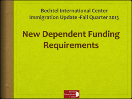 J2 Dependent Funding Requirements