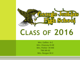 Graduating Class of 2016 Presentation