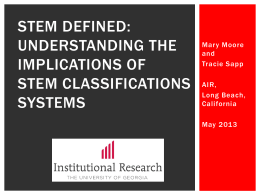 Understanding the Implications of STEM Classifications Systems