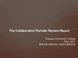 The Collaborative PRR - Middle States Commission on Higher