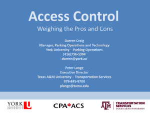 Access Control - Transportation Services