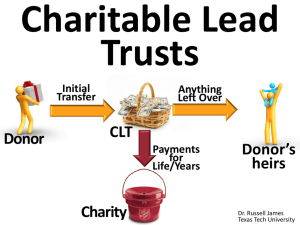 Charitable Lead Trusts - EncourageGenerosity.com