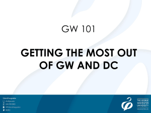 Getting the Most out of GW & DC