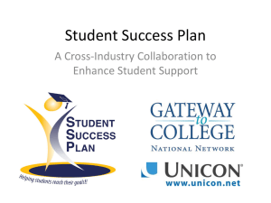 Student Success Plan - Association of Community College Trustees