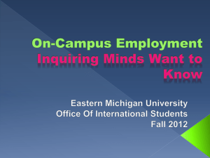 On-Campus Employment - Eastern Michigan University