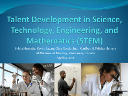 Talent Development in Science, Technology, Engineering