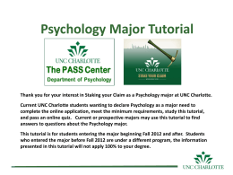 PASS Center - Psychology Department Home Page
