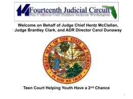How the Bay County Teen Court Operates & Steps to Successfully