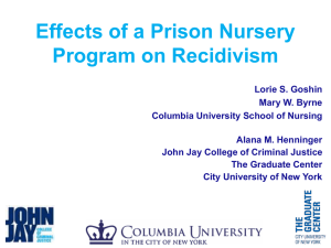Effects of a Prison Nursery Program on Recidivism