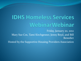 IDHS Homeless Services WebinarWebinar