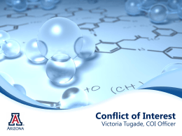 Victoria Tugade, PhD, UA Conflict of Interest Office