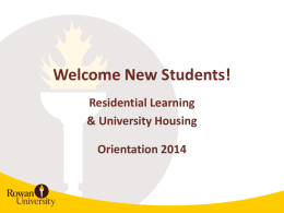 Residential Learning & University Housing