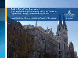 Marquette Nurse, Faculty Activities Summary