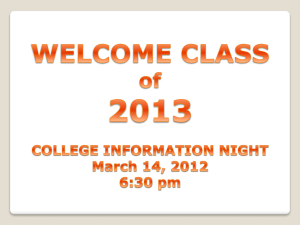 College Information Night (ppt)