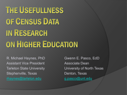 the usefullness of census data in research on higher education