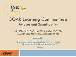 May 20, 2014 - SOAR Works! - Policy Research Associates