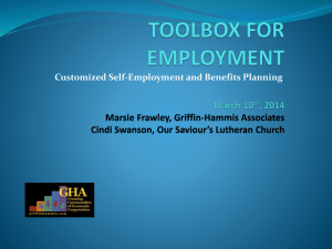 Toolbox for Employment - Statewide Independent Living Council of