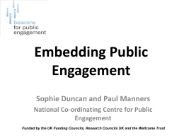 What is public engagement?