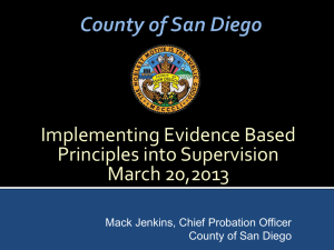 EBP- San Diego - Chief Probation Officers of California