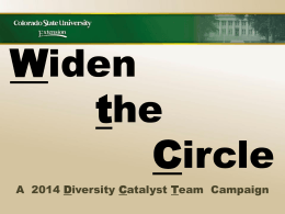 Widening the Circle - Colorado State University Extension