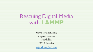 Imaging Digital Media for Preservation with LAMMP