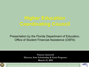 FRAG Presentation - Higher Education Coordinating Council