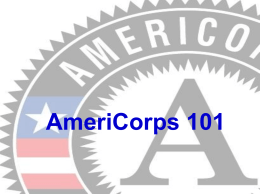 AmeriCorps 101 - Siena College