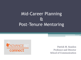 Mid-Career Planning and Post