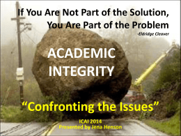 ICAI_2014_Jena_Henson - Center for Academic Integrity