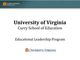 University of Virginia ExSEL Program