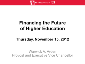 Public Investment and Higher Education The Getting of Wisdom