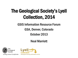 Lyell - Geoscience Information Society