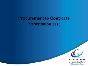 Contract Request Process - City Colleges of Chicago