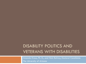 Disability Politics and Veterans with Disabilities