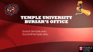 Bursar`s Office: Tuition, Billing, and Payment