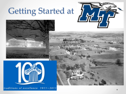 Getting Started at - Middle Tennessee State University