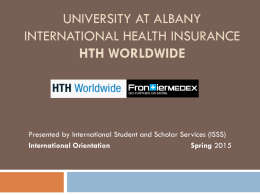 International Student Health Insurance Presentation