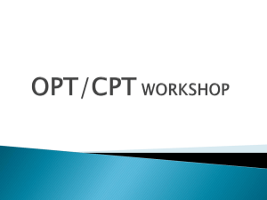 OPT/CPT WORKSHOP - Mount Holyoke College
