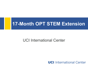 17-Month OPT STEM Extension Presentation