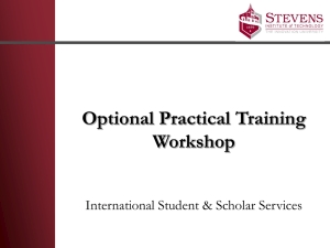 OPT Workshop PowerPoint - Stevens Institute of Technology