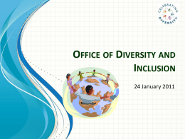 Office of Diversity and Inclusion - University of Massachusetts Boston
