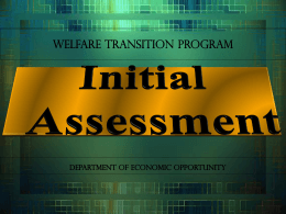 Initial Assessment - Department of Economic Opportunity