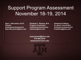 TAMU * Galveston Workshops November 20-21, 2014
