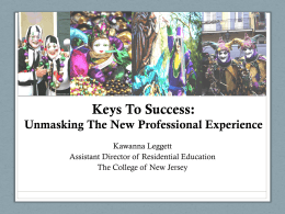 Keys To Success - Mid-Atlantic Association of College and