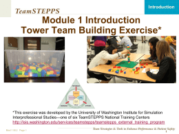 PowerPoint team building tower exercise