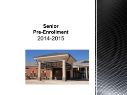 Senior Enrollment for the year 2015-2016