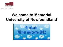 Please click here for the Graduate Winter Welcome PowerPoint