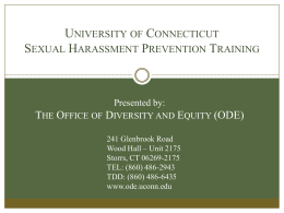 Sexual Harassment - Office of Diversity and Equity