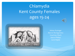 Chlamydia Kent County Females ages 15-24
