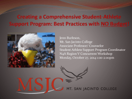 Welcome to MSJC!